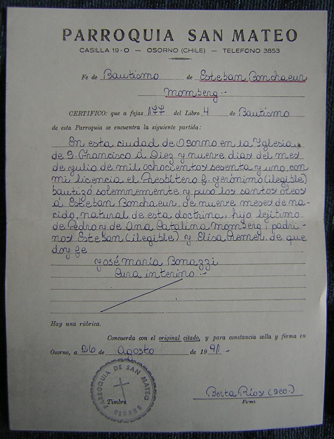 Acta De Matrimonio Catolico : Certificado de bautismo en agua paq unidades senda