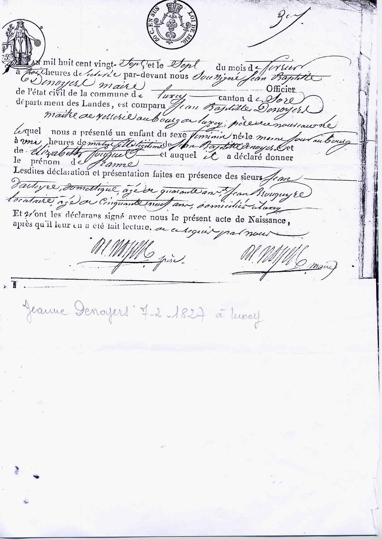 Familia Denoyers | www.genealog.cl
